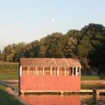 pond-house-sunset