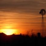 windmill-sunset